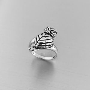 🦉🦉NEW🦉🦉Sterling Silver Heavy Owl Ring